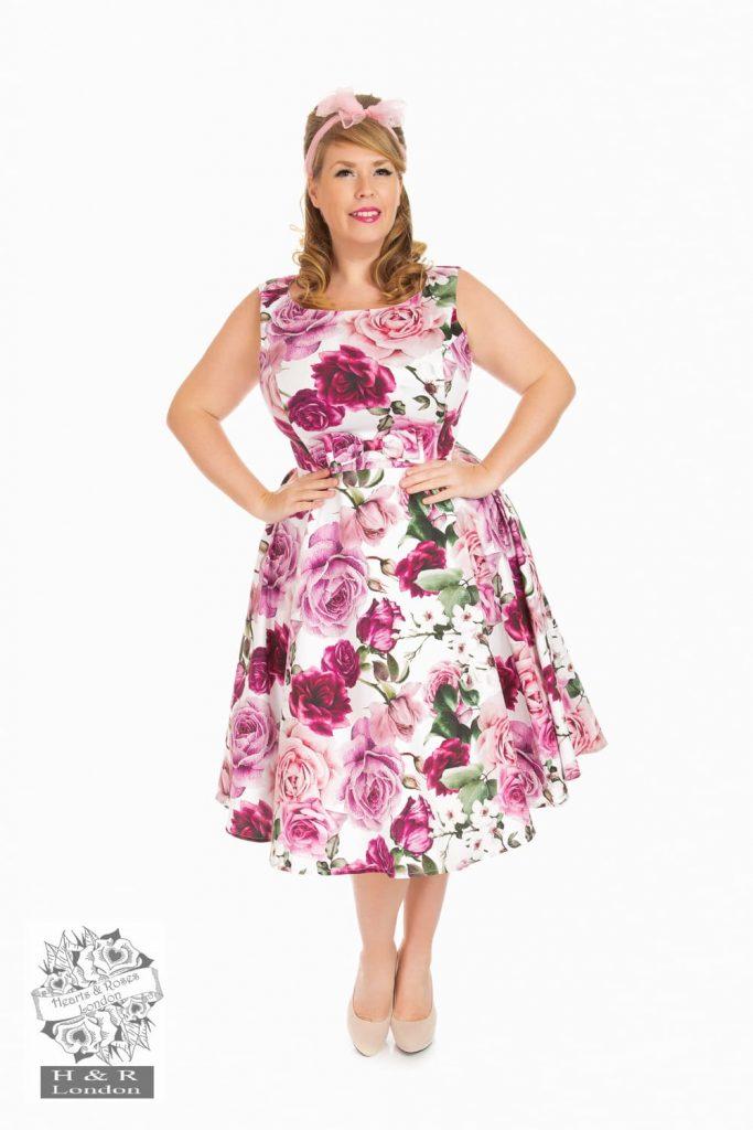 Plus size model posing for garment photography photoshoot